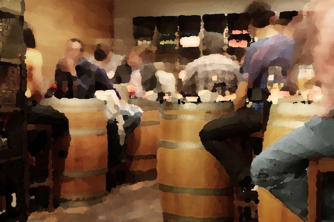 Red wine tapas